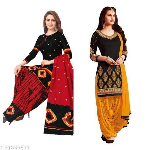 womeniyaa printed suits materials(pack of 2)