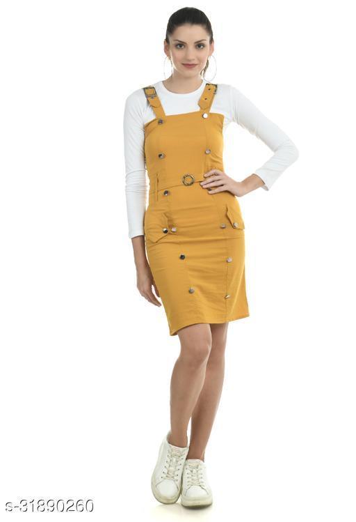 Women Yellow Dungaree Jumpsuits