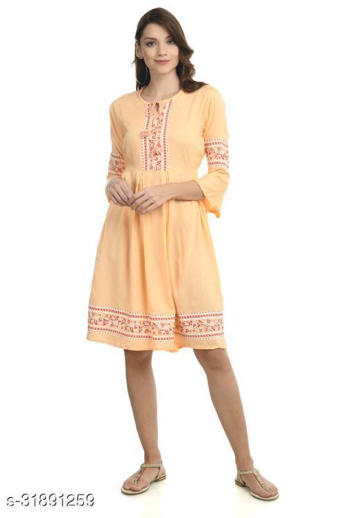 Women Dress Yellow