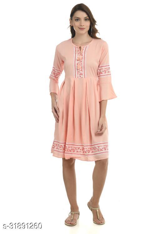 Women Dress Peach