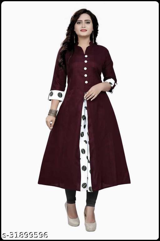 Women's Printed Khadi Cotton Kurti (Dress) New Collection