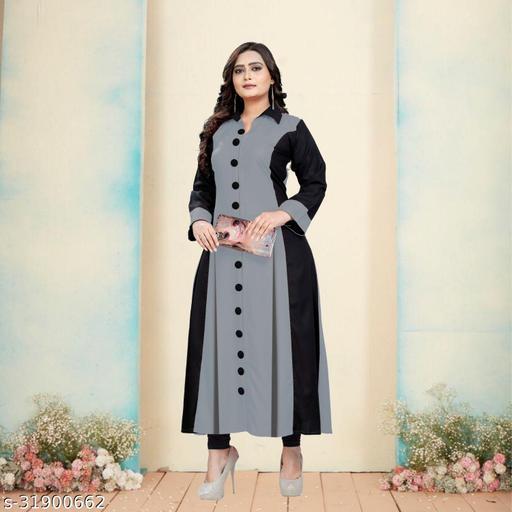 Women's Rayon Cotton Blend A-Line Kurta