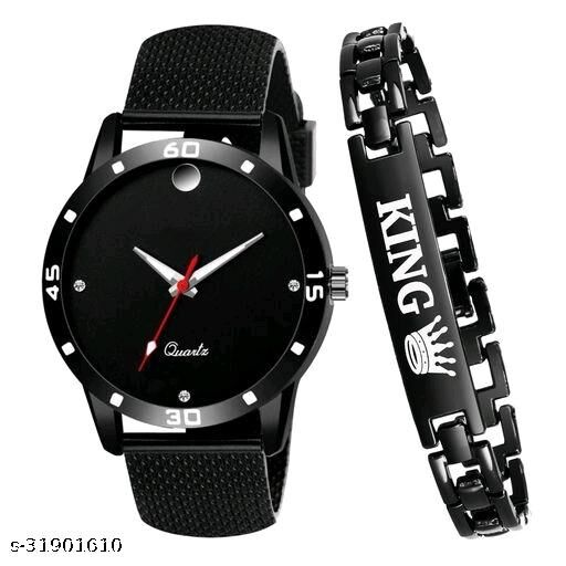 unique watch and bracelet combo for men's and boy's