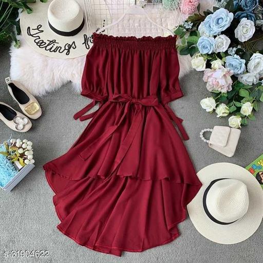 Tamina Women Drop Waist Midi Dress