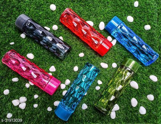 ALASCA INTERNATIONAL Water Bottle Set For Fridge, Gym, School Kids, Office, Sports, Yoga- 1 Litre, Multicolored (6)