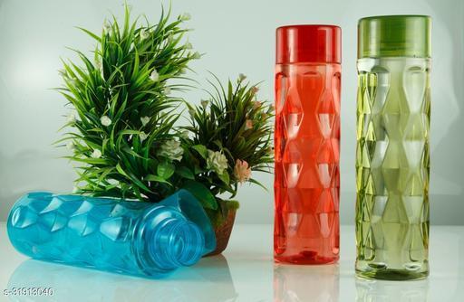 ALASCA INTERNATIONAL Water Bottle Set For Fridge, Gym, School Kids, Office, Sports, Yoga- 1 Litre, Multicolored (3)
