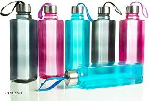 ALASCA INTERNATIONAL Plastic Water Bottle, 1000ml, Set Of 6, Multicolour