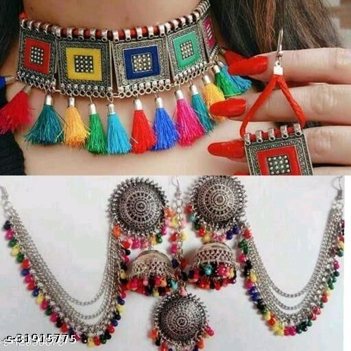 Fancy necklace and earing combo