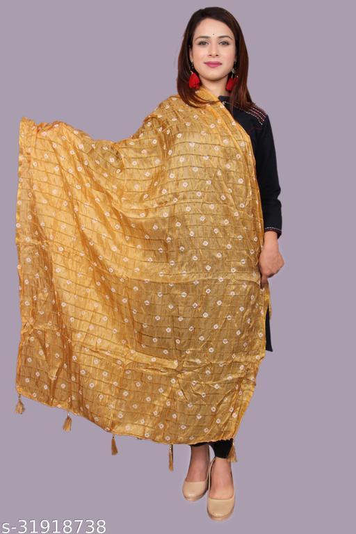 Rangsthali Bandhani Printed jaipuri Dupatta for women