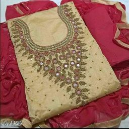 Attractive Chanderi Silk Suit & Dress Material