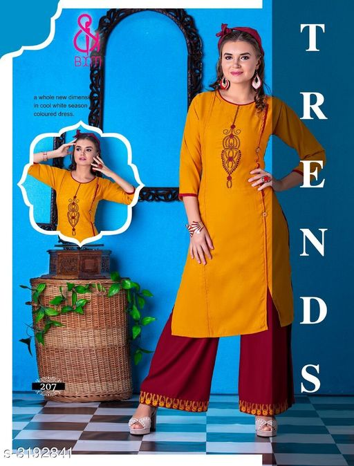 Kurta Sets Attractive Soft Cotton  Women's Kurta Sets  *Fabric* Kurti - Soft Cotton , Bottom - Soft Cotton  *Sleeves* Sleeves Are Included  *Size* Kurti  - L - 40 in, XL - 42 in, XXL - 44 in ,Bottom - L - 28 in To 32 in ,XL - 32 in To 34 in, XXL - 34 in To 36 in  *Type* Stitched  *Length* Kurti - Up To 46 in, Bottom - Up To 40 in  *Description* It Has 1 Piece Of Women's Kurti With 1 Piece Of Bottom  *Work * Printed  *Sizes Available* L, XL, XXL   Supplier Rating: ★4.1 (3038) SKU: RAGOON 207 Shipping charges: Rs1 (Non-refundable) Pkt. Weight Range: 600  Catalog Name: Siya Attractive Soft Cotton  Women's Kurta Sets Vol 10 - Step up wear Code: 577-3192841--058
