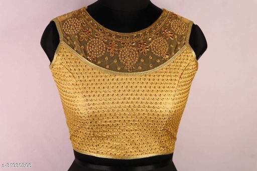Excellent Work On Golden Ready Made Blouse