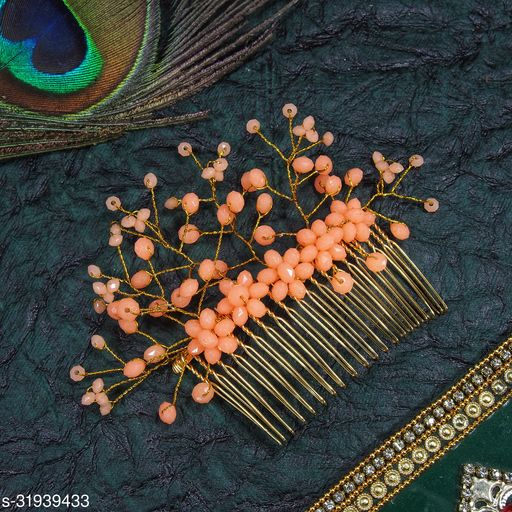 Jyeana Gold Plated Trendy Hair Clip Combs