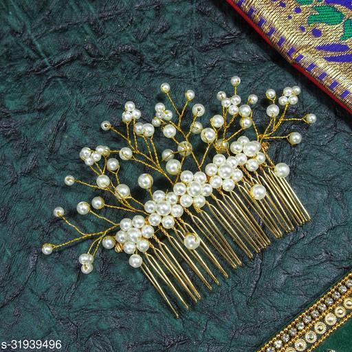 Attractive Women's   White  Artificial Gajra Juda Pin