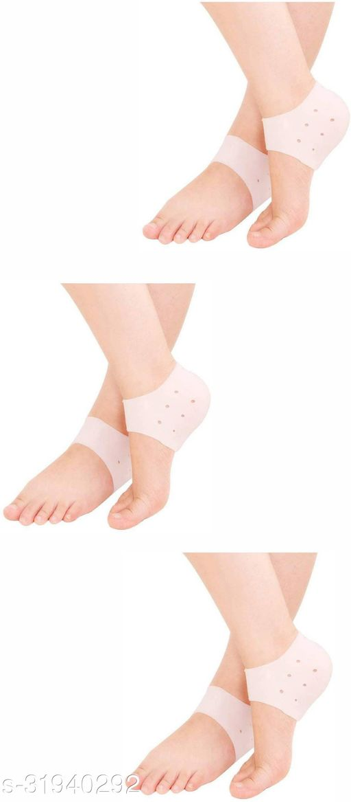 keddy Silicone Anti Crack Heel Pad And Foot Protector Moisturizing Socks for Foot Care, Pain Relief And Heel Cracks for Men And Women (Free Size )