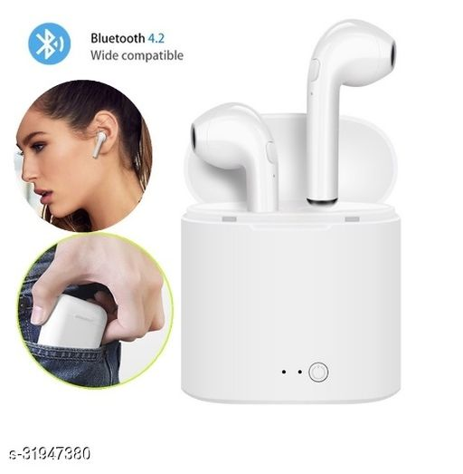 QUXXA  i7s-TWS Truly Wireless Bluetooth Headset (White)
