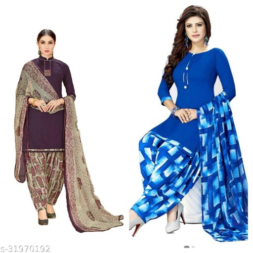 fancy latest un-stiched dress materials(pack of 2)