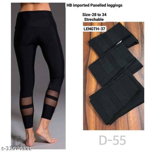 Sheer panelled leggings,track pants,Homewear dryfit lower by High-Buy-Free Size(28-34 waist, length-37)- D55