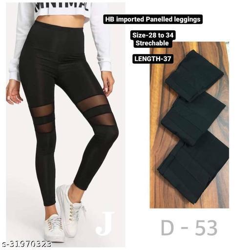 Sheer panelled leggings,track pants,Homewear dryfit lower by High-Buy-Free Size(28-34 waist, length-37)-D53