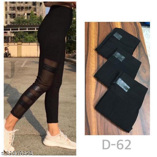 Sheer panelled leggings,track pants,Homewear dryfit lower by High-Buy-Free Size(28-34 waist, length-37)- D62