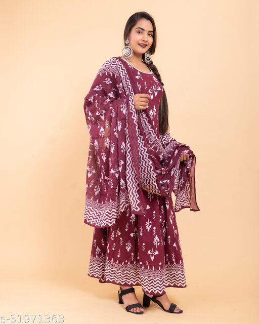 Anarkali Kurta and dupatta set for Women And Girls