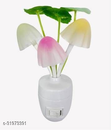 Mushroom LED Lamp Night Light with Automatic Glows in Dark with Sensor for Bedroom, Kids Room, Office and Living Room