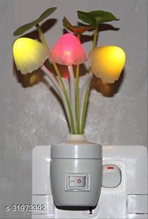 Energy Saving Kids Room Magic 3D LED Night Lamp with Plug Smart Sensor Flowers Bulbs Nature Illumination Decoration Mushroom Shape Light Home Decor Lights for Bedroom Corridor