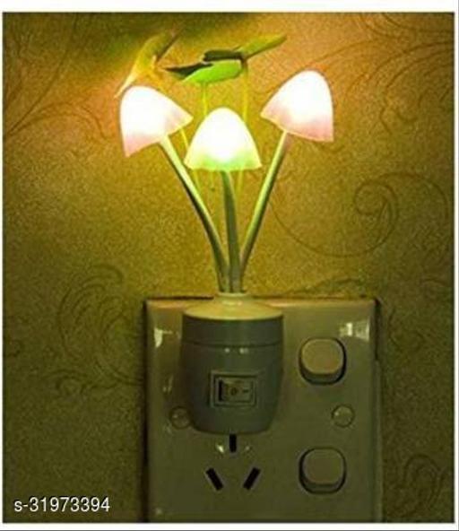 Color Changing LED Mushroom Shape Night Light Lamp | LED Color Changing Light with Smart Sensor