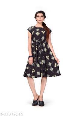 Women's Western Wear Fit & Flare Dress