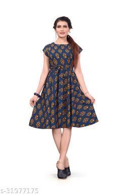 Women's Western Wear Fit and Flare dress