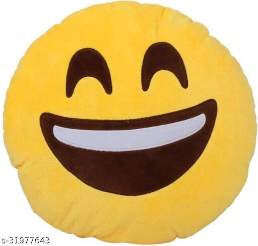 Premium Smiley & Emoji Microfibre Pillows Cushions For Home Decoration items For Gift items, Sofa & Office Chair Cushions and Pillows Microfibre Smiley Cushion - Big Smile - Size - 32x32CM (Pack of 1)