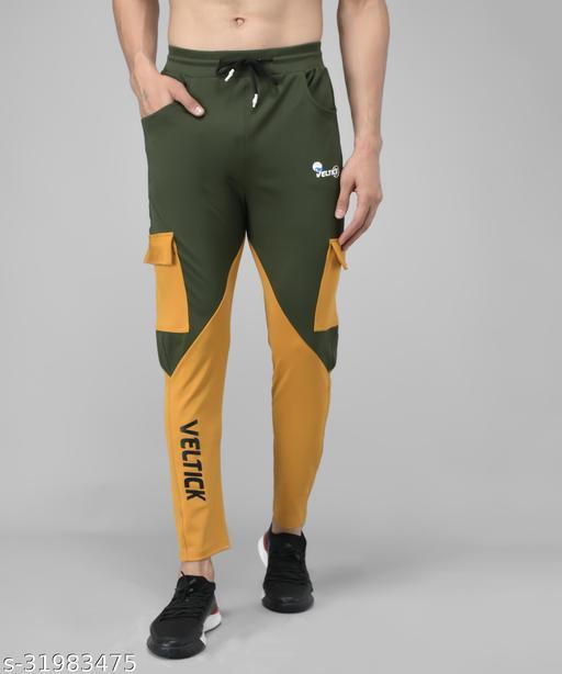 Veltick Men's Lycra ColorBlock Track Pant (SC01-VLTMS-012)