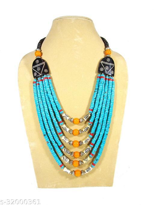 Tribal naga gypsy tibetan fashion ethnic 5 strand Necklace for women & Girl ( Length 28 inch)