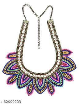 Embroidry Party Wear Necklace