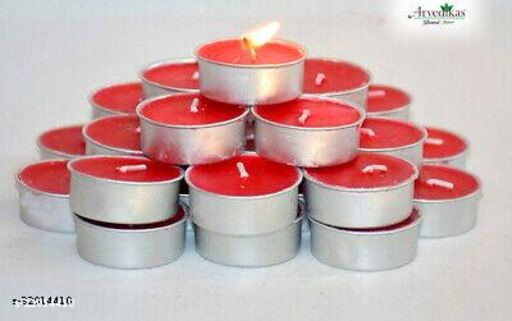 Red Rose Color T-light Pack of 25