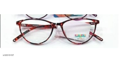 RED AND BLACK PRINTED CATEYE WEAR