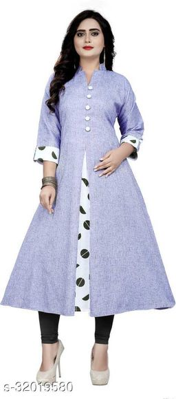 Stylish Khadi Cotton A-line Kurtis