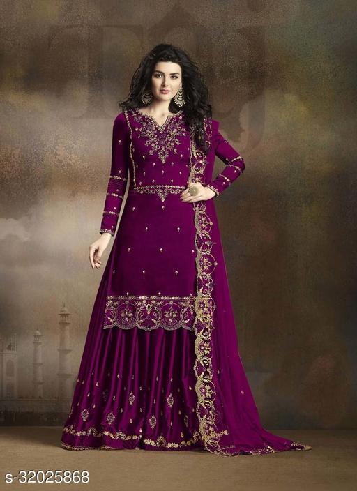 Women's Rangoli Silk Heavy Embroidery Work Salwar Suit Set With Dupatta