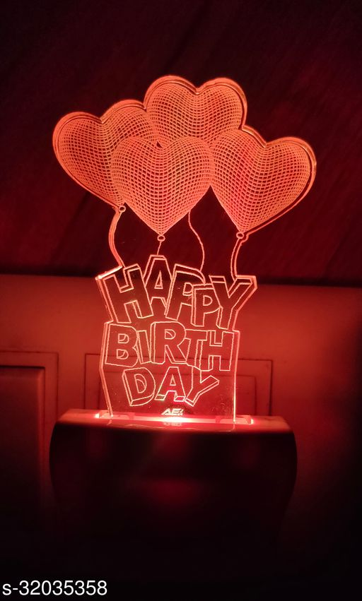 HAPPY BIRTH DAY WITH BALOON FANCY NIGHT LAMP 145