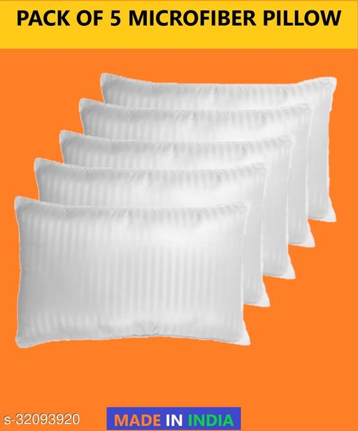 Z-JAIP Premium Reliance Soft Fiber Bed Pillow Size 16*24 Set of Five