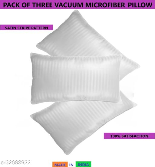 Z-JAIP Premium Reliance Soft Fiber Bed Pillow Size 16*24 Set of Three