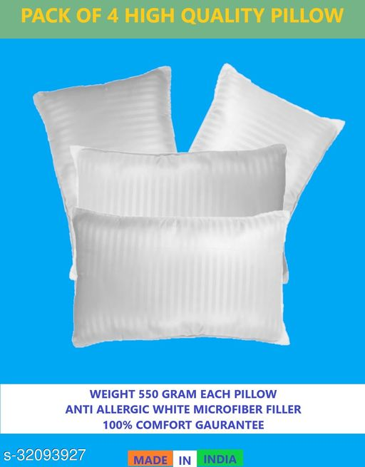 Z-JAIP Premium Reliance Soft Fiber Bed Pillow Size 16*24 Set of Four