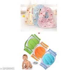 ITSYYBOO 1 PAIR OF KNEE PAD WITH 3 PC BABY BIB BUTTON