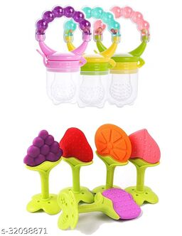 ITSYYBOO RATTLE RING WITH NIBBLER & 2PC FRUIT TEETHER