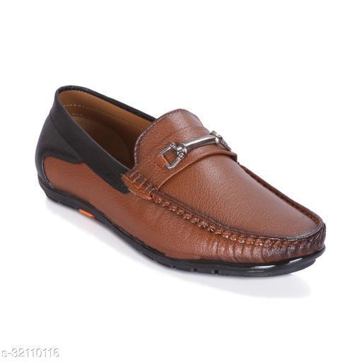 JAVIO Stylish Synthetic Leather Black Brown Shoes, Driving shoe, Casual Loafers, Black Brown lofers Punjabi Juti, Rajasthani Jutis, Formal Gudia, Boys Shoes For Men