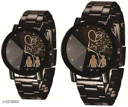 Trendy Attractive Couple's Watches Combo ( Pack Of 2 )