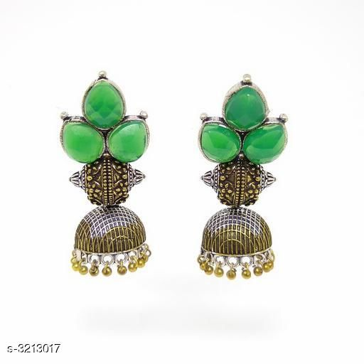 Earrings & Studs Trendy Alloy Women's Earring  *Material* Alloy  *Size (L)* 5 cm  *Description* It Has 1 Pair Of Women's Earrings  *Work* Beads Work  *Sizes Available* Free Size *    Catalog Name:  Attractive Trendy Alloy Women's Earrings Vol 11 CatalogID_442461 C77-SC1091 Code: 723-3213017-