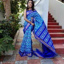 Jivika Pretty Ikat Sarees