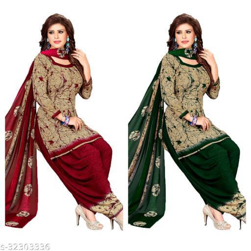 maahi fancy dress materials of women(pack of 2)