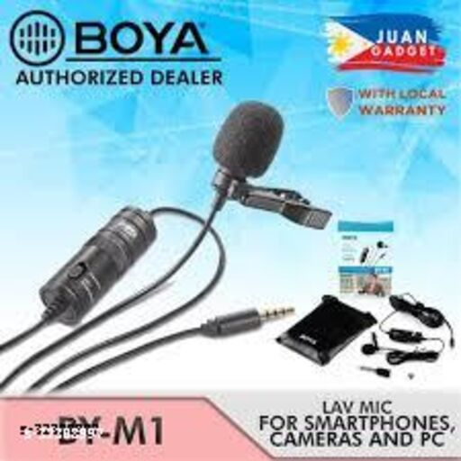 BOYA BY-M1 Omnidirectional Lavalier Microphone 20 ft